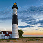 Big Sable Point Lighthouse Sunset Poster