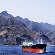 Big Ship Non Atlantic Ocean Poster