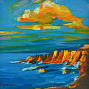 Big Sur At The West Coast Of California Poster by Patricia Awapara
