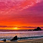 Big Sur Sunset Pfeiffer Beach Poster