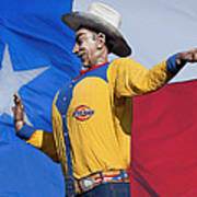 Big Tex And The Lone Star Flag Poster