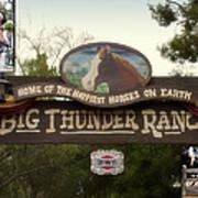 Big Thunder Ranch Signage Frontierland Disneyland Poster