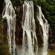 Big Water Fall Croatia Poster