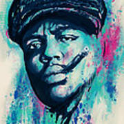 Biggie Smalls Modern Art Drawing Poster Poster