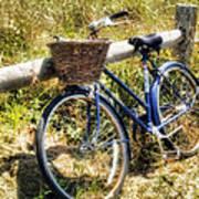 Bike At Nantucket Beach Poster