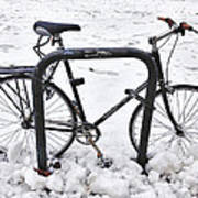 Bike In The Snow Poster