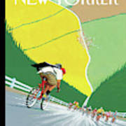 Bike Messenger Racing Towards Bikers Racing Poster