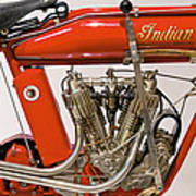 Bike - Motorcycle - Indian Motorcycle Engine Poster