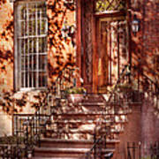 Bike - Ny - Greenwich Village - An Orange Bike  Poster by Mike Savad