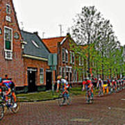 Bike Race On Orange Day In Enkhuizen-netherlands Poster
