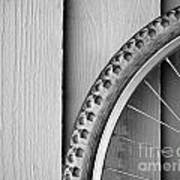 Bike Wheel Black And White Poster by Tim Hester