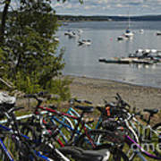 Bikes And Boats Poster