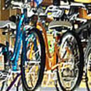Bikes Hanging Around Poster