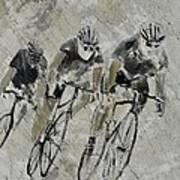Bikes In The Rain Poster