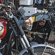 Old Motorbikes Poster