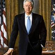Bill Clinton Portrait Poster by Tilen Hrovatic