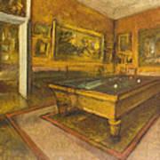 Billiard Room At Menil-hubert Poster