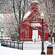 Billie Creek Village Winter Scene Poster