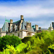 Biltmore In The Distance Poster