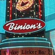 Binions Whiskey Licker Bar Poster