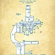 Binocular Microscope Patent Drawing From 1931 - Vintage Paper Poster