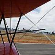 Biplane Taxying Back To Tie Down Poster
