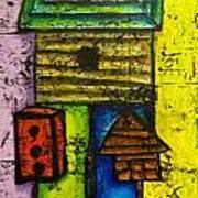 Bird House Whimsy Poster