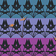 Bird Of Paradise Pattern Poster