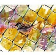 Bird On Chain Poster
