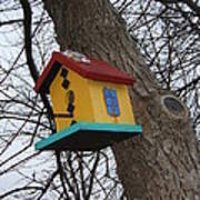 Birdhouse Of Color Poster by Margaret McDermott