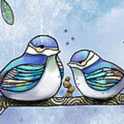 Birds Of Blue Poster by Karin Taylor