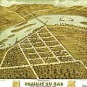 Birdseye View Of Prairie Du Sac Wisconsin 1870 Poster
