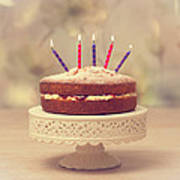 Birthday Cake Poster by Amanda Elwell
