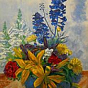 Birthday Flowers 1 Poster by Brian  Pinkey