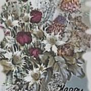Birthday Flowers Poster
