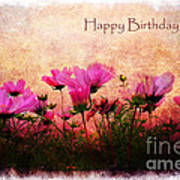 Birthday Flowers Poster