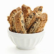 Biscotti Cookies In Bowl Poster