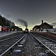 Bishops Lydeard By Dusk  Poster