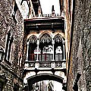 Bishop's Street - Barcelona Poster by Juergen Weiss