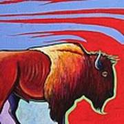 Bison in the Winds of Change Poster