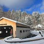 Bissell Covered Bridge In Winter Poster