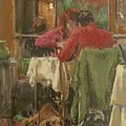 Bistro In Beziers, 2007 Pastel On Paper Poster