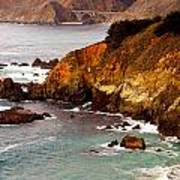 Bixby Bridge Of Big Sur California Poster by Barbara Snyder