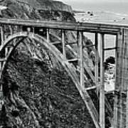 Bixby Creek Bridge Black And White Poster by Benjamin Yeager