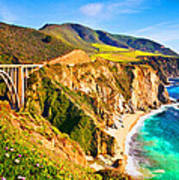 Bixby Creek Bridge Oil On Canvas Poster