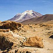 Bizarre Landscape Bolivia Poster