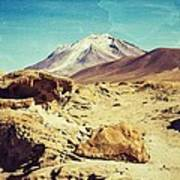 Bizarre Landscape Bolivia Old Postcard Poster