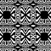 Pattern Black White Abstract Art No.301. Poster
