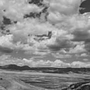 Black And White High Desert Cumulus Poster