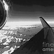 Jet Pop Art Plane Black And White  Poster